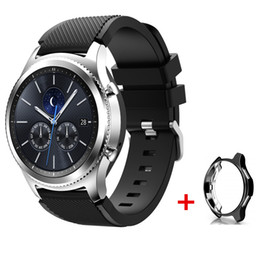 d535ff1bd81 sport silicone strap+case for samsung gear S3 frontier classic galaxy watch  46mm band replacement wrist bracelet 22mm watch band