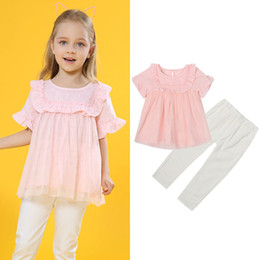 $enCountryForm.capitalKeyWord NZ - AiLe Rabbit Summer New Girl Suit Short-sleeved Lace Blouse + Pants 2 Pieces Fashion Doll Suit Children's Clothing INS Hot