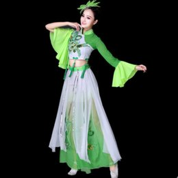 984e4a79d chinese yangkoo dance costume chinese dance costume fan umbrella beautiful  performance clothing