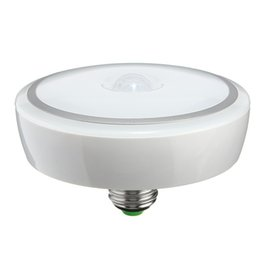 Ceiling Spotlight Bulbs UK - E27 12W LED PIR Smart LED Lighting Motion Sensor Ceiling Lamp Led Bulb with Motion Sensor Infrared Body Sensor Night Lamp