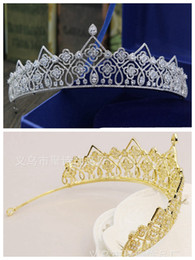 $enCountryForm.capitalKeyWord NZ - New European bride gold and silver two-color luxury zircon crown Korean Princess Queen hair accessories into the store to choose more styles