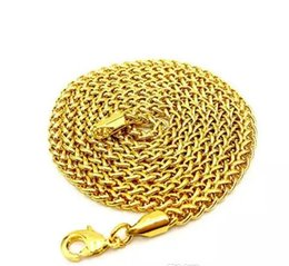 high ropes UK - Men's Hip-Hop 18k Gold Plated Necklace High Quality 3mm Small Flower Basket Chain