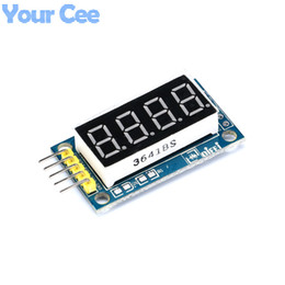 "Discount common anode display - 4 Bits 0.36"" Common Anode LED Display Board Digital Tube Display Module"