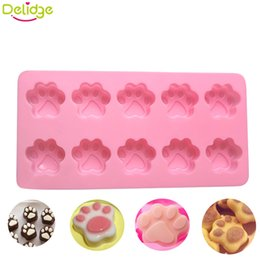 Discount cat silicone mould - Delidge 1 pc Cat Claw Paws Cake Mold Silicone Fondant Chocolate pudding jelly Candy DIY production Mould Cake decoration