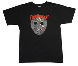 friday 13th jason mask UK - Friday the 13th Classic Mask Jason Black T Shirt New Horror Slasher Movie Novelty Cool Tops Men Short Sleeve T-shirt