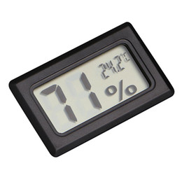 $enCountryForm.capitalKeyWord UK - Mini Black Digital LCD Temperature Humidity Indoor Room Humidity Meter Thermometer Hygrometer Temperature Sensor
