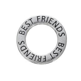 $enCountryForm.capitalKeyWord UK - Fashion 19mm Round Best Friends Circle Charms Vintage Alloy Round Connector Charms For Bracelets Necklaces AAC356