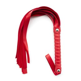Chinese  PU Leather Whip Riding Party Handle Flogger Queen Black Horse Whip for Horse Racing Riding Entertainment sex toy bondage gear manufacturers