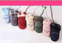 Flower boy For kids online shopping - Cute kids gloves flower cartoon bear rabbit cat warm glove children boys Girls Mittens Unisex Gloves for different styles