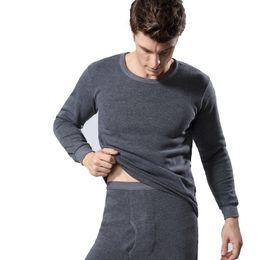 Wholesale black thermal underwear for men resale online - thermal underwear male Winter long johns thermo underwear men s thick men setswinter keep warm for Russian man women