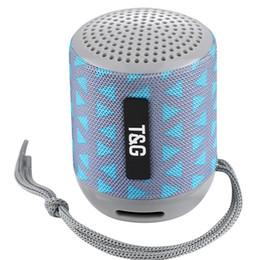 powerful speakers 2018 - TG129 MINI portable wireless bluetooth speaker powerful audio mp3 audio player TF USB FM sound box 60PCS LOT
