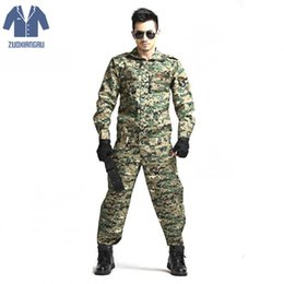 Discount combat suit army - Army Cs Camouflage Tactical Uniform Jungle Camouflage Suit Tactical Soldier Combat Jacket Clothing Set