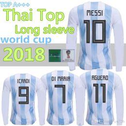 6fc54823aa9 Thai Quallity Maillot de Foot Homme World Cup 2018 Jerseys Argentina  Maradona Messi Football long sleeve Soccer Jerseys Argentine Shirts