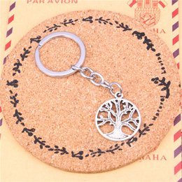 Peace rings online shopping - Keychain peace tree Pendants DIY Men Jewelry Car Key Chain Ring Holder Souvenir For Gift