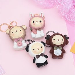 Love doLLs men for woman online shopping - Cute Creative Four Things Key Chain For Men And Women Car Key Chain Love Key Ring Doll Bag Decorative Pendant