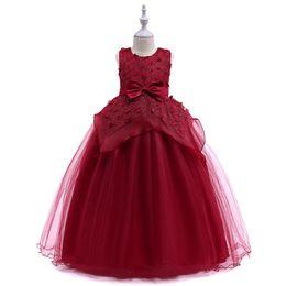 $enCountryForm.capitalKeyWord UK - Vieeoease Girls Princess Dress Flower Kids Clothing 2018 Summer Fashion Sleeveless Vest Lace Tutu Girls Wedding Dress EE-923