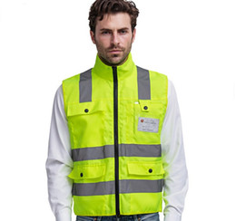 high visibility motorcycle Canada - Motorcycle Reflective vests 360 Degrees High Visibility Neon Safety Vest Belt Safety Vest Fit For Running Cycling Sports Outdoor Clothes LLF