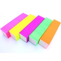 $enCountryForm.capitalKeyWord UK - 5PCS LOT Nail Files Buffer Block Colorful Sanding Files Emery Board Nail Art Tools Grinding Manicure Pedicure Sets