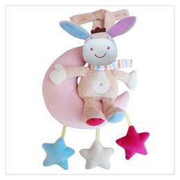 Musical baby crib hanging online shopping - Baby Wind up Musical Stuffed Animal Stroller Crib Hanging Bell with Music Box Plush Toy Gift for Infant High Quality