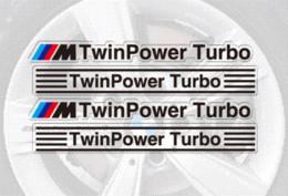 Aliauto carro-styling /// m twinpower carro turbo jantes adesivo e decalque rodas acessórios para bmw x1 x3 x4 x5 x6 m1 m2 m3 em Promoção