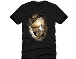 men t shirt bird UK - Peregrine - Sunset - Splash - Bird Prey Dtg Mens T Shirt Tees Novelty Cool Tops Men Short Sleeve Tshirt Cool Casual Pride T Shirt Men