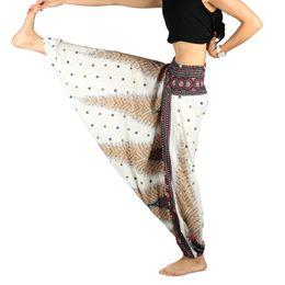 03d4aa282404f One Size Women Yoga pants Blend Bohemia Multicolor Geometric Print Long Yoga  Pants Indian Loose Comfy Harem Trousers Printed