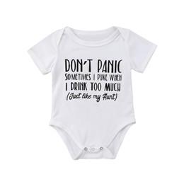 dde532d1c Ropa divertida de la niña online-FOCUSNORM Funny Newborn Baby Boy Girl  Romper Babygrows Carta