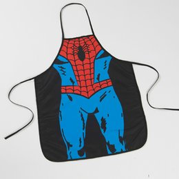 Pinafore Dresses NZ - New Creative Navidad Pinafore Cute Spiderman Dress Apron Christmas Decoration for Home New Year Gifts 001