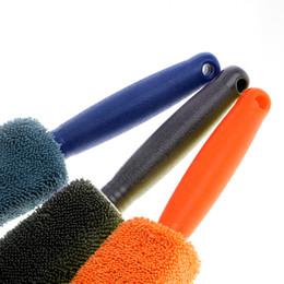 Car sCrub online shopping - Tire Wheel Cleaning Car Brush Microfiber Scrub Car Styling Auto Care Dust Remove Washing Tool