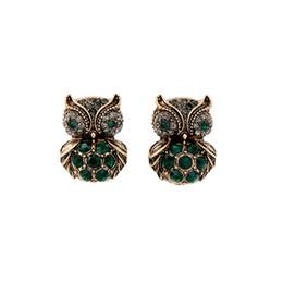 Chinese  Earrings for Women Cute Diamond Owl Earrings Pierced Ears Hoop Pendant Character Cool Jewelry Fashion Earrings Women Gift Wholesale Spot manufacturers