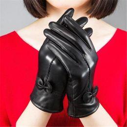 $enCountryForm.capitalKeyWord Australia - Fashion Women Warm Thick Winter Gloves Leather Elegant Girls Brand Mittens Free Size With Fur Female Gloves