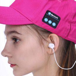 Wireless Headphones Mic Blue Australia - Fitness Wireless Sport Music Hat Cap Speaker Headset Mic Earphone Unisex Music Hat Cap Speaker Headphone Earphones