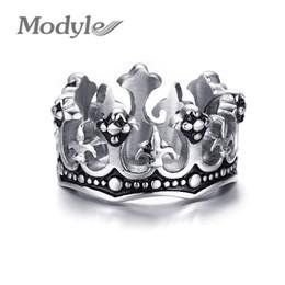 Fleur lis ring men online shopping - Modyle Men s Rings Black Royal King Crown Knight Fleur De Lis Cross Vintage Rings for Men Jewelry