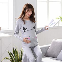 d6773389fc98b Women Breastfeeding Pajama Breast Feeding Nightwear Maternity Nursing  Pajamas Set Maternity Nursing Pregnancy Sleepwear+Pants