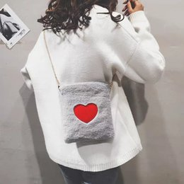 $enCountryForm.capitalKeyWord NZ - Hot Sale and Fashion Plush Love Chain Small Square Bag Heart Shape Lovely New Single Shoulder Crossbody Bag