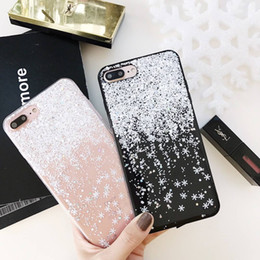 capa iphone glitter 2019 - Bling Snow snowflake Phone Case For iphone 7 Case Slim Crystal Soft Gel TPU Cases Glitter shinning Cover For iphone 6 6S