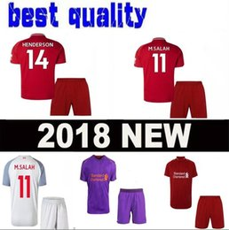 c1d0bd95b new season 18 19 adult M.SALAH Soccer Jersey HENDERSON 2018 EMRE CAN  FIRMINO Soccer Sets MILNER CHAMBERLAIN MANE Football man shrit Uniforms