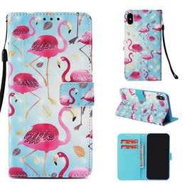 $enCountryForm.capitalKeyWord NZ - 3D Flamingo Leather Wallet Case For Iphone XR XS MAX X 8 7 6 6S Galaxy Note 9 S9 S8 S7 Flower Butterfly Unicorn Cartoon Flip Covers Luxury