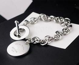 wholesale top quality titanium steel love bracelet NEWYORK brand round OT brand lobster clasp Bracelet for women Pulseira Feminina Masculina on Sale