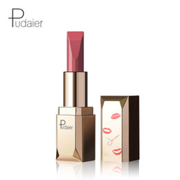 China Makeup Pudaier Velvet Matte lipstick Waterproof Liquid Lip gloss Nudes Black Red Lipstick Nutritious Lip Balm Cosmetics Matte Lipstick suppliers