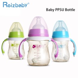 $enCountryForm.capitalKeyWord Canada - REIZBABY Baby Feeding Bottle Nipples Handles PPSU Wide Mouth BPA FREE Infant Milk Bottle 180ml 280ml Children Gift