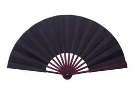 $enCountryForm.capitalKeyWord Canada - Large Plain Black Hand Fan DIY Folding Chinese Silk Fan Adult Fine Art Painting Program Home Decoration Crafts Mens Gift 10pcs lot