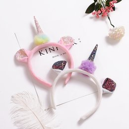 765b7dc130c unicorn horn flowers cat ears hairband hair head hoop bands gifts  accessories for girls children party headdress decorations new