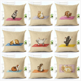 Hamsters Homes online shopping - Home Furnishing Decor Pillow Case Hamster Digital Printing Cotton And Linen Personalized Cushion Cover Creative Pillowcase Exquisite xj j