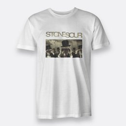 Stone men S clotheS online shopping - Come What ever May Stone Sour Sz S XL White Tee Mens T Shirt Print Men Hot Summer Casual Clothing tees