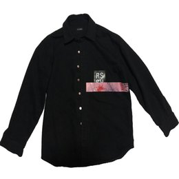 Chinese  RAF SIMMONS 17FW DENIM JACKET PVC TAPE ASAP ROCKY STYLE LOng Sleeve JACKET Catwalk Show Product manufacturers