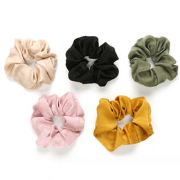 Discount stretchy ponytails - New Fashion Luxury Soft Feel Satin Hair Scrunchie Ponytail Donut Grip Loop Holder Stretchy Hair Band for Women Girls