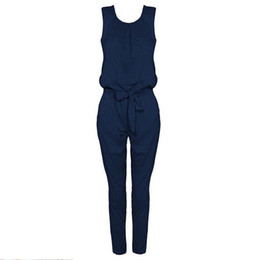 $enCountryForm.capitalKeyWord Canada - 2018 Fashion Women Elegant Jumpsuit Casual Sleeveless Tank Harem Pants Rompers Playsuit Solid Overalls Long Combinaison Femme