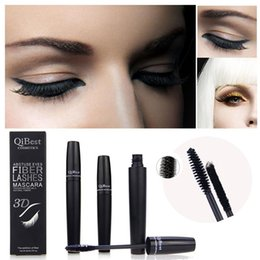Best Fiber NZ - Best Price Qibest mascara 3D FIBER LASHES MASCARA Set Makeup lash eyelash waterproof double mascara 1box=2pcs High Quality