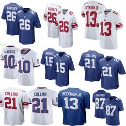 6b509dd67 New York Giants 13 Odell Beckham Jr 10 Eli Manning 26 Saquon Barkley 21  Landon Collins Giants Jersey Men s Football Jerseys